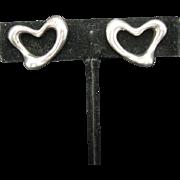Tiffany earrings Elsa Peretti Clip on Hearts Sterling