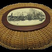 Nantucket Basket Purse Vintage Woven Handbag Lightship