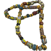 Trade bead strand Multitude of colors and Shapes African Tribal