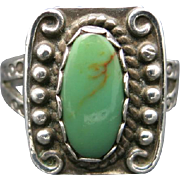 Fred harvey Turquoise ring sterling silver