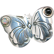 Butterfly pin sterling silver handmade Native american