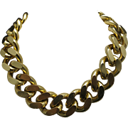 Link Chain Enormous thick Choker Gold tone