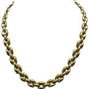 Gold tone link necklace Napier Classic goes with everything