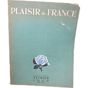 Plaisir de France Magazine February 1948 Advertising French culture