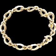 Charm bracelet starter Yellow gold filled chain Figaro