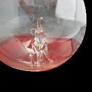 Dansk Ornament Blown glass Elephant CLEAR NIB