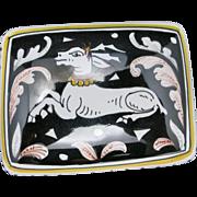 Trinket box Pottery Siena Italy Mythologial Creature