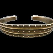 Kalevela Koru Bronze Cuff bracelet Vintage VIking Jewelry