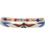 beaded hat BAND South WESTern motifs Thunderbird