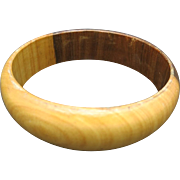 wood Bangle Bracelet 2 color vintage light dark