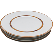 Bernardaud dinner plates Saffron safran limoges france