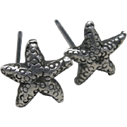 Starfish earrings Tiny Sterling silver studs