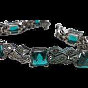 Ciner rhinestone bracelet Sterling silver Rhodium
