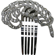 rhinestone Barrette BRIDE Wedding Fantastic Feather