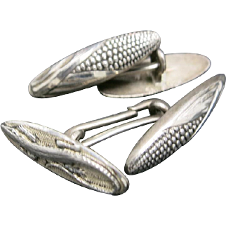 Sterling silver cufflinks Corn on the COB Salamander