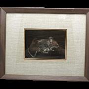 field mouse etching steven scharr Scratchboard