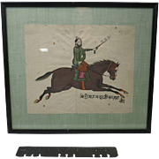 Horse Watercolor Antique Rider Asian India