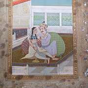 Indian Miniature painting Hand made woman and Man