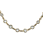 Miriam Haskell Necklace simple crystal choker