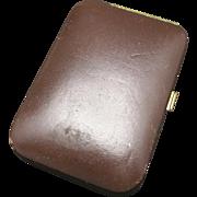 Brown leather key case vintage