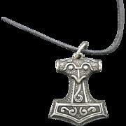 Viking style pendant Sterling silver scandinavian