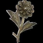 Filigree Flower Pin Large Topazio Portugal