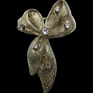 Gift BOW pin Filigree Handmade 800 silver