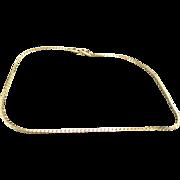 Monet necklace Gold tone chain Choker Fancy link Seventies