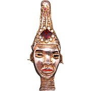 African prince Pin Ndebele People South Africa Gold tone