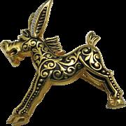 Damascene Donkey pin Toledo spain souvenir