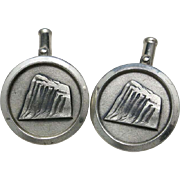 Prudential Cufflinks Insurance The rock Sterling silver