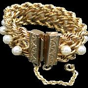 HOBE Bracelet Gold tone Chains Fake pearls