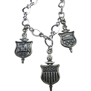 Olympic Charm Bracelet Sterling silver Munich Sapporo