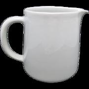 Arabia Finland pitcher WHite Jug VIntage MCM ceramics
