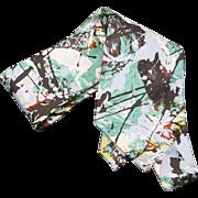 Jackson Pollock Silk tie Guggenheim Museum