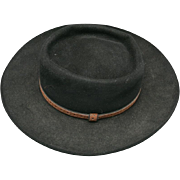 Western HAT Stetson Black Gun Club royal flush Size 7