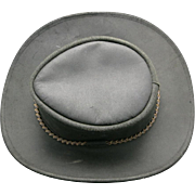 Black Cowhide Hat Waxed Australian Bush hat