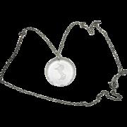 Unicorn necklace Cut crystal pendant Silver tone chain