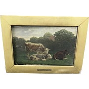 Antique Cow Painting Johann Voltz Country Germany