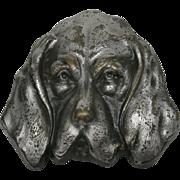 Blood hound dog pin Lightweight Metal stamping