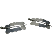 Sterling silver Barrettes Small Pair Hand made