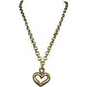 Vintage Vaubel necklace Yellow gold PLATED Heart