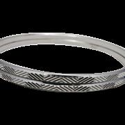 Trifari Bangle Bracelets Silver toned slim shiny