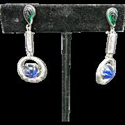 Fruit salad earrings Sterling silver Dangles TOP SHELF!