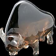 Cedenese Bull Toro Murano Italy Glass Sommerso