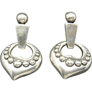 James Avery earrings sterling silver Heart motif Pierced