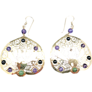 Peacock Earrings pierced Large and showy Wild Bryde
