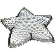 Starfish pin Starling silver Lalique French Crystal