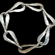 Sterling silver bracelet Handmade Peggie Robinson Evanston Illinois