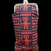 Vintage eyeglass case Peruvian Fabric TUMI
